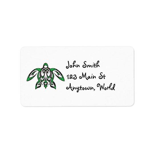 Hawaiian honu label