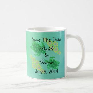 Hawaiian Honu Save The Date Coffee Mug