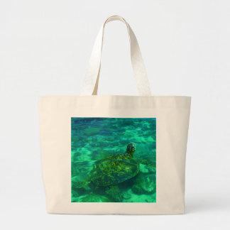 Hawaiian Honu Sea Turtle Tote Bag