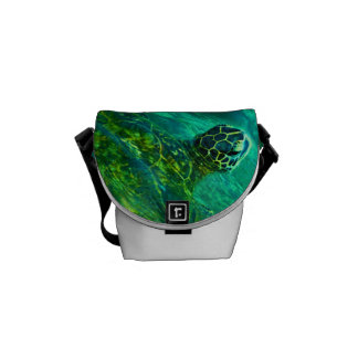 Hawaiian Honu Sea Turtle Courier Bag