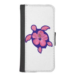 Hawaiian Honu Turtle and Hibiscus iPhone SE/5/5s Wallet Case