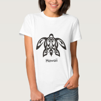 Hawaiian Honu Turtle Ladies T-Short Shirts