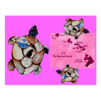 Hawaiian Honu Turtle postcard