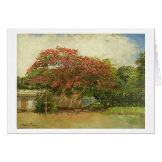 'Hawaiian House' (1901) oil on canvas painting Card