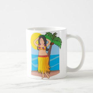 hawaiian hula girl coffee mug
