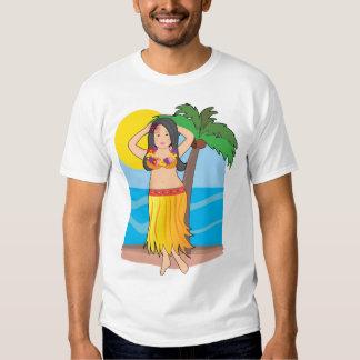 hawaiian hula girl t shirts