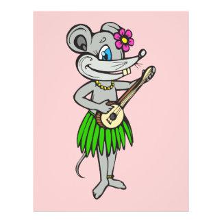 Hawaiian Hula Mouse 21.5 Cm X 28 Cm Flyer