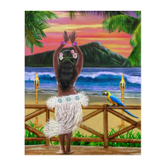 HAWAIIAN HULA SUNSET ACRYLIC PRINT