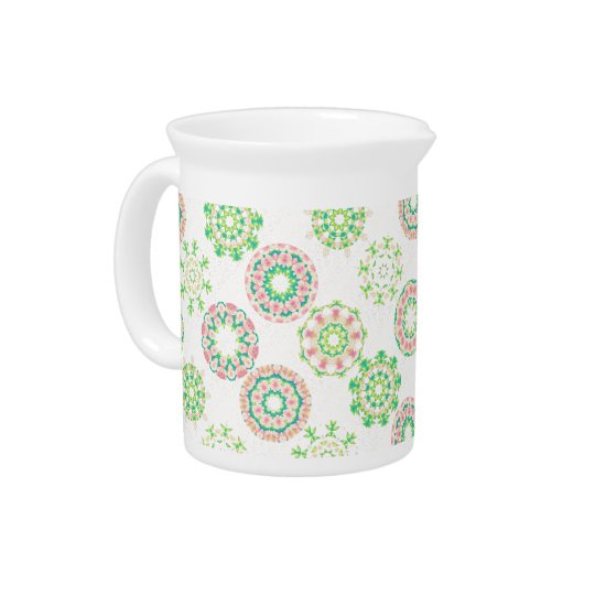 Hawaiian Ice Snow Tropical Hibiscus Gold Effect Beverage Pitcher