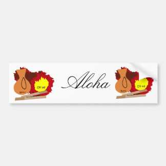 Hawaiian Instruments Aloha bumper sticker