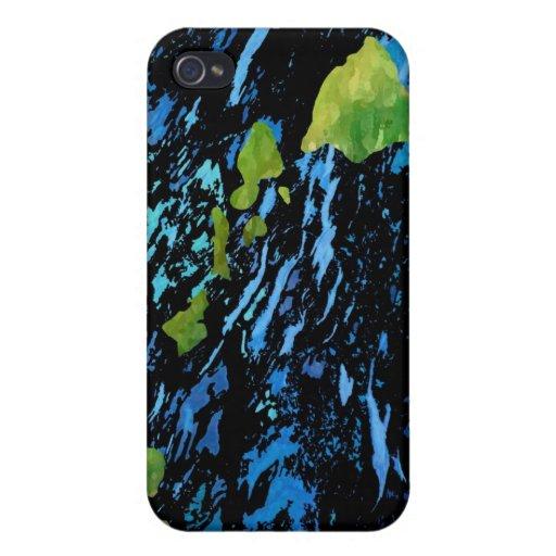 Hawaiian Island Chain in Abstract Art iPhone 4/4S Covers
