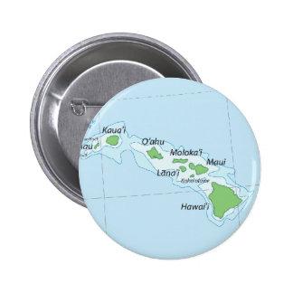 Hawaiian Island Chain Map Pinback Button