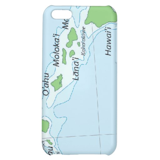 Hawaiian Island Chain Map iPhone 5C Cover