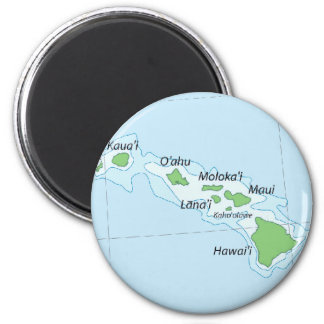 Hawaiian Island Chain Map Fridge Magnets
