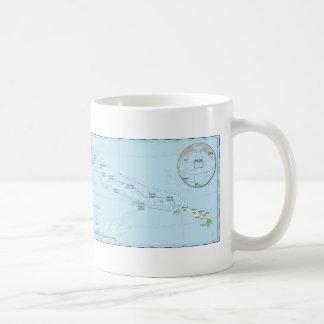 Hawaiian Island Chain Map Coffee Mug