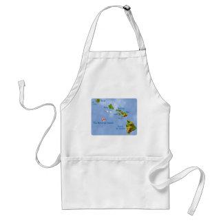 Hawaiian Island Map apron
