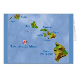 Hawaiian Island Map card