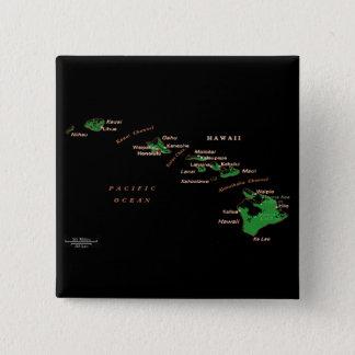 Hawaiian Islands Button