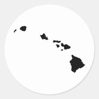 Hawaiian Islands Classic Round Sticker