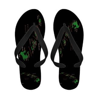 Hawaiian Islands design slippers Flip-Flops