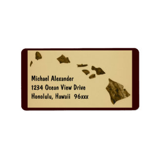 Hawaiian Islands Map Address Label