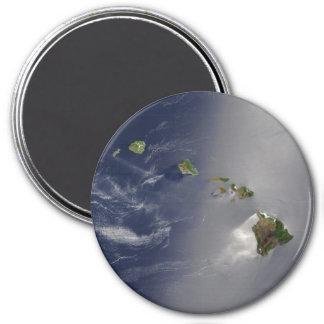 Hawaiian Islands Satellite View 7.5 Cm Round Magnet