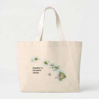 Hawaiian Islands Jumbo Tote Bag