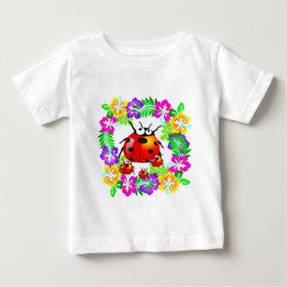 Hawaiian ladybug with babies on hibiscus flowers shirt