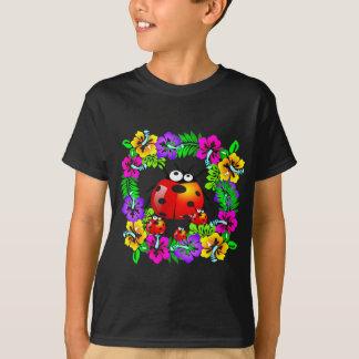 Hawaiian ladybug with babies on hibiscus flowers T-Shirt