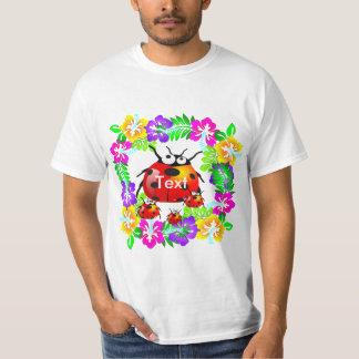 Hawaiian ladybug with babies on hibiscus flowers t-shirts