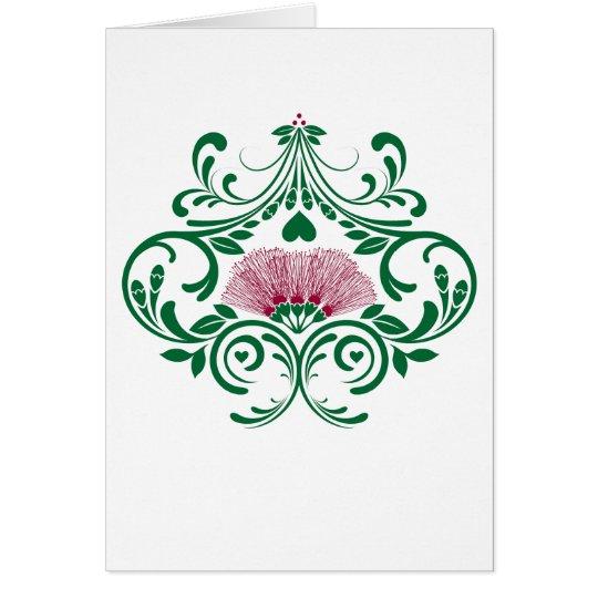 Hawaiian Lehua Flower Greeting Card