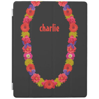 Hawaiian Lei custom monogram device covers iPad Cover