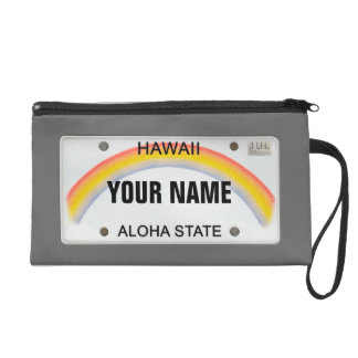 Hawaiian License Plate with your name Wristlet Purses
