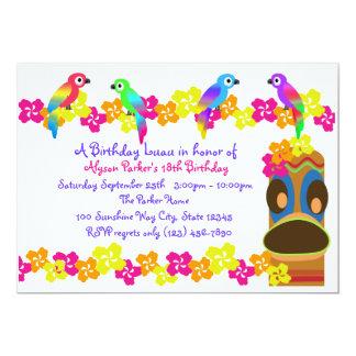 Hawaiian Luau 13 Cm X 18 Cm Invitation Card