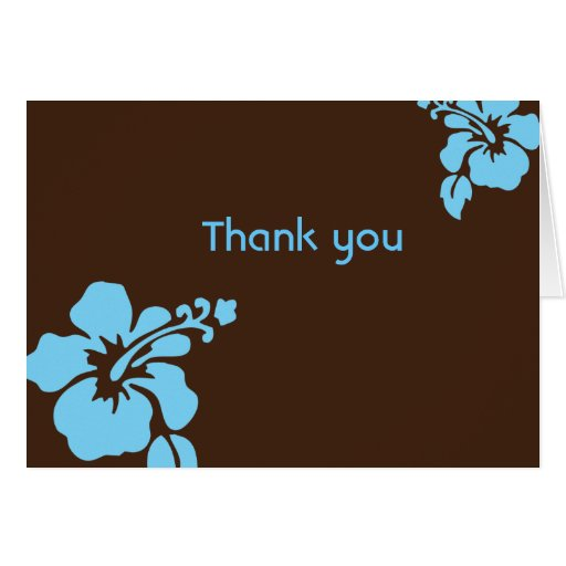 Hawaiian luau custom thank you card zazzle for Zazzle custom t shirts