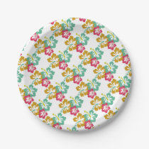 Hawaiian Luau Party Paper Plate