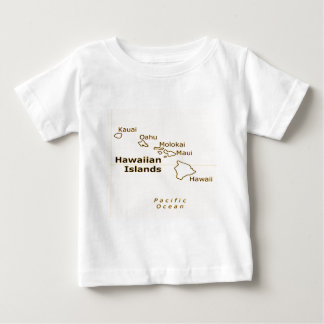 Hawaiian Map baby tees