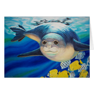 Hawaiian Monk Seal Card