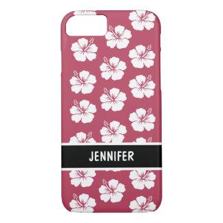 Hawaiian Monogram Pink Hibiscus iPhone 8/7 Case