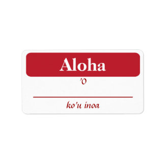 Hawaiian My Name Is...Tags Address Label