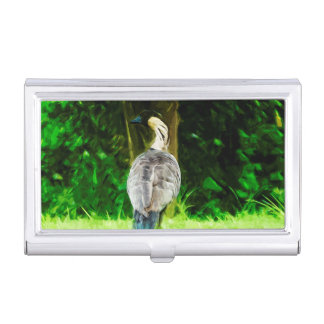 Hawaiian Nene Abstract Impressionism Business Card Holders