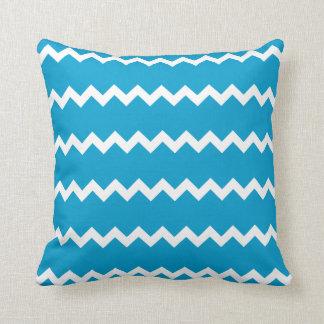 Hawaiian Ocean Blue Chevron Pillow