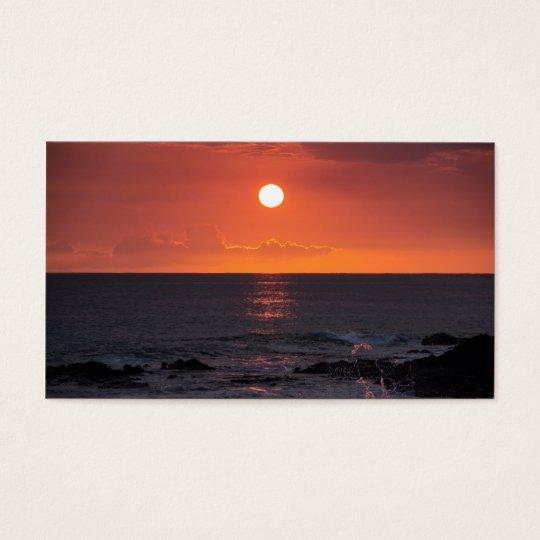 Hawaiian Ocean Sunset - Hawaii Sunsets Business Card