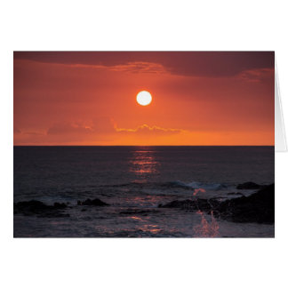 Hawaiian Ocean Sunset - Hawaii Sunsets Card