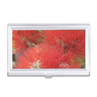 Hawaiian Ohia Lehua Flower Business Card Holder