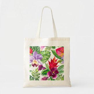 Hawaiian orchid flowers tote bag