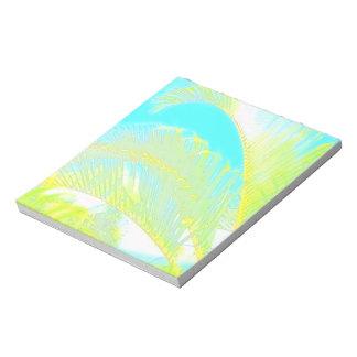 Hawaiian palm notepad