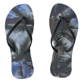 Hawaiian Palm Tree Flip-Flops Flip Flops