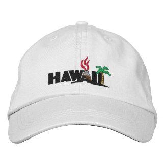 Hawaiian Palm Trees and Volcanos Embroidered Cap Baseball Cap
