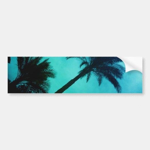 Hawaiian Palm Trees Bumper Sticker